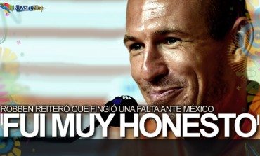"""Arjen Robben: """"Sí fingí, pero en el primer tiempo"""""""