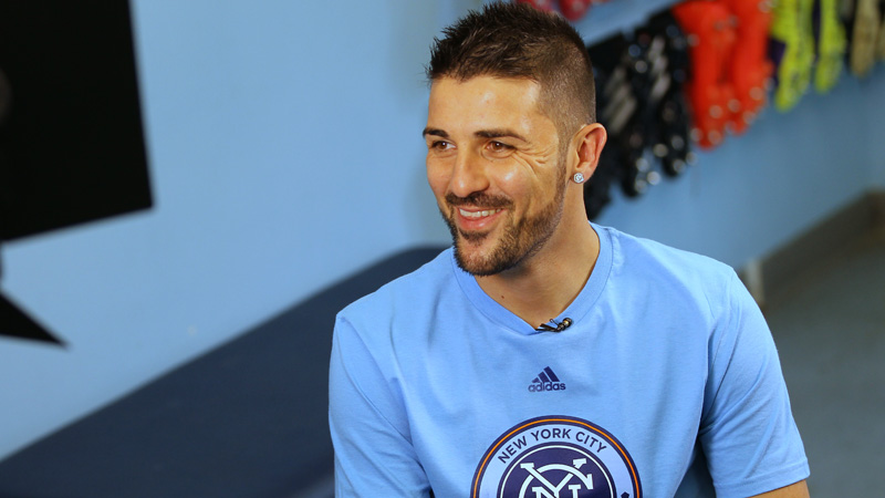 David Villa oficialmente presentado en el New York City FC