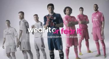 'Galáctica' presentación de la camiseta rosa fucsia del Real Madrid