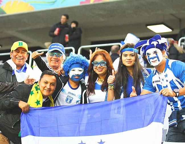 Aficionado catracho se hizo sentir en el Mundial de Brasil