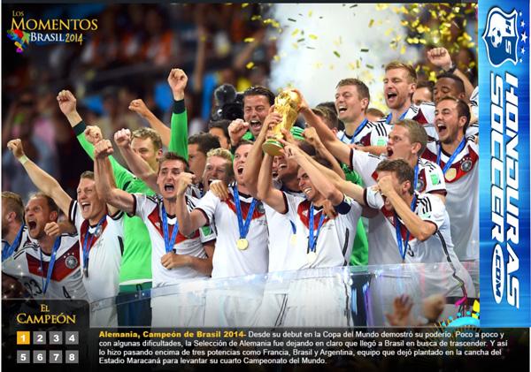 Los momentos del Campeón en Brasil 2014