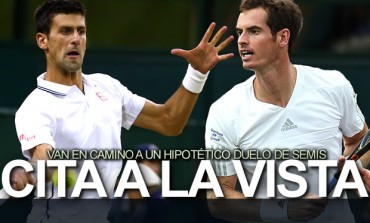 Djokovic y Murray, a Cuartos en Wimbledon