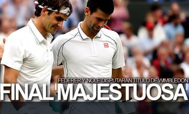 Duelo legendario, Federer y 'Nole' van por título en Wimbledon