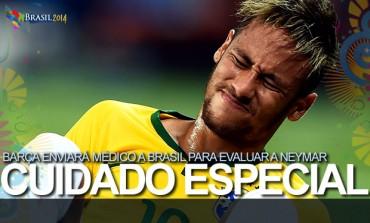 Barcelona manda medico para valorar la lesión de Neymar