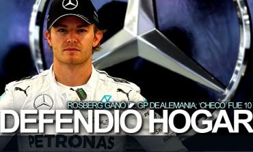 Rosberg dominó GP de Alemania; 'Checo' fue 10