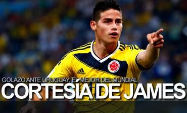 Gol de James Rodríguez a Uruguay, el mejor del Mundial