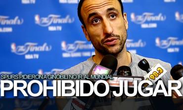 Spurs prohibieron a Ginóbili ir al Mundial de basquetbol