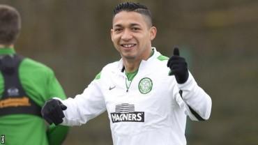 Emilio Izaguirre reaparece con el Celtic