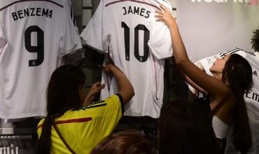 Ritmo imparable en la venta de camisetas de James Rodríguez