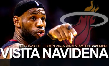 LeBron vs. Heat, en duelo navideño de NBA