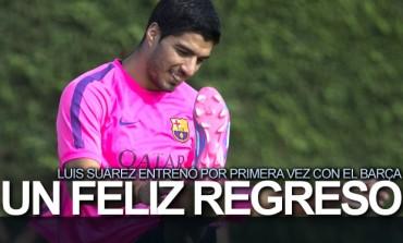 Luis Suárez ya entrenó con el Barcelona