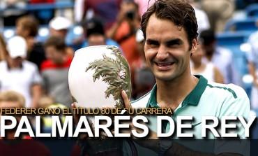 Federer ganó el Masters de Cincinnati y sumó su título 80