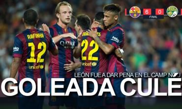Barcelona vapuleó al Bicampeón mexicano León