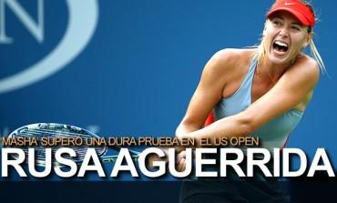 Sharapova, a tercera ronda en el US Open
