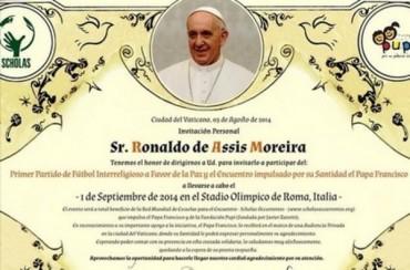 Ronaldinho, emocionado por la invitación del Papa