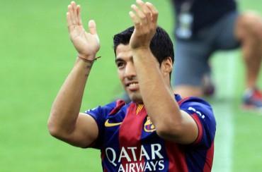Luis Suárez debutó como jugador del Barça