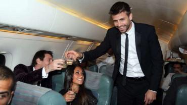 Gerard Piqué hizo una broma muy pesada dentro de un avión