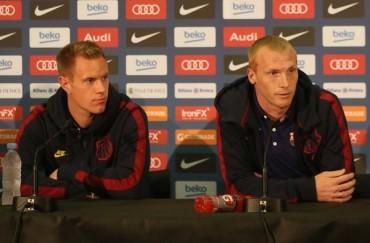 Ter Stegen y Mathieu, ansiosos por jugar con el Barça
