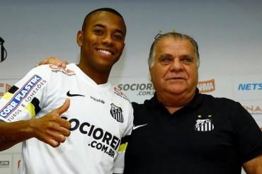 Robinho regresó al Santos