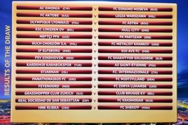 Los encuentros de la Fase Previa de la Europa League