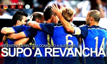 Argentina derrota a domicilio a la campeona del Mundo Alemania