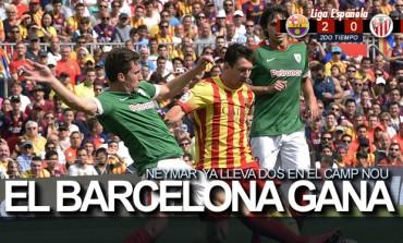 Con doblete de Neymar, Barcelona vence al Atletico de Bilbao