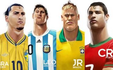 Messi, Ibra, Cristiano y Neymar, 'poseídos' por Superman