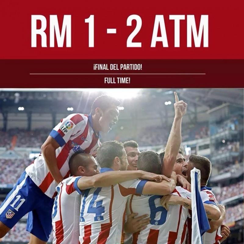 Atlético vence al Real Madrid en el derbi madrileño