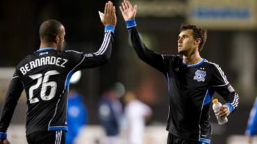 """""""Muma"""" Bernárdez titular en empate del San José Earthqueakes de la MLS"""