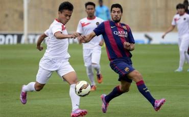 Luis Suárez marca sus primeros goles como blaugrana