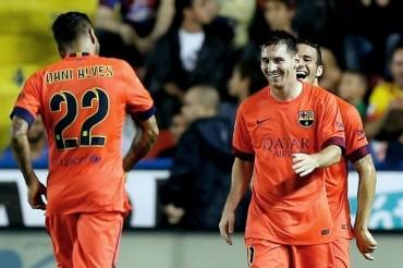 Barcelona goleó y mantuvo liderato