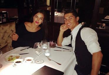 Cristiano celebró su hat-trick cenando con Irina Shayk