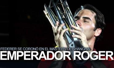 Federer se coronó en el Masters de Shanghai