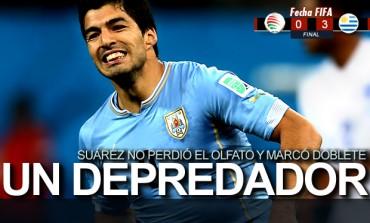 Uruguay goleó a Omán; Luis Suárez marcó doblete