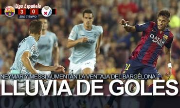 Barcelona vence al Eibar con una lluvia de goles