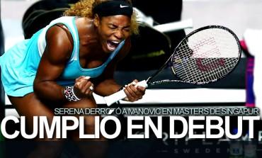 Serena venció a Ivanovic en Masters de Singapur
