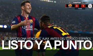 El Barça golea a un tierno Ajax antes del Clásico