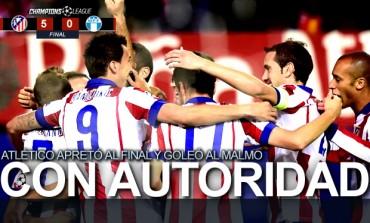 Goleada del Atlético de Madrid al Malmoe