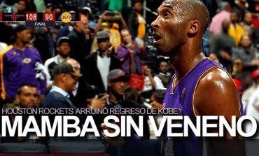 Rockets 108, Lakers 90; Houston arruinó retorno de Kobe