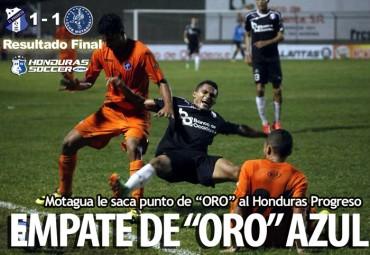 Motagua saca empate de Oro al Honduras Progreso