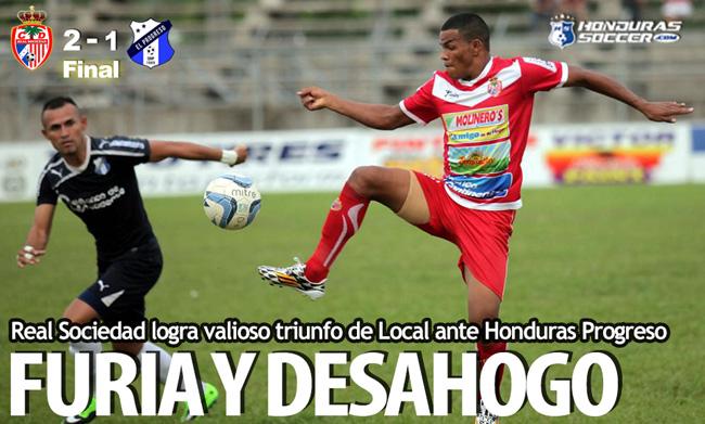 Real Sociedad logra valioso triunfo de Local ante Honduras Progreso