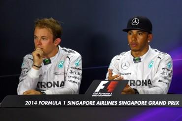 GP de Japón, primer 'set' entre Hamilton y Rosberg