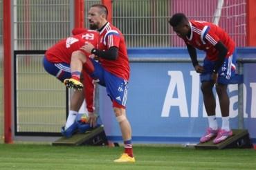 Franck Ribery, con progreso en su lesión