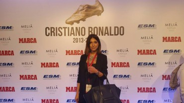 Hondureña presente en la entrega de la Bota de Oro a Cristiano Ronaldo
