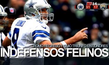 Cowboys 31, Jaguars 17; Romo regresó y quebró racha