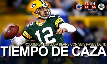 Packers 55, Bears 14; Rodgers humilló a Chicago
