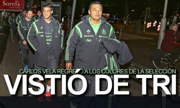 Carlos Vela volvió a vestirse de seleccionado Mexicano