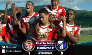 Real Sociedad gana el juego de ida del repechaje al Honduras Progreso