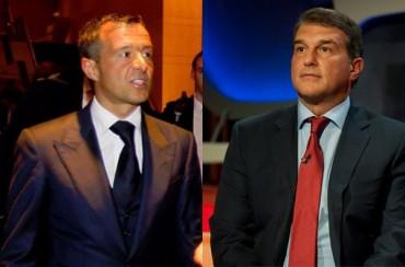Laporta y Mendes no hablaron de Cristiano y Mourinho