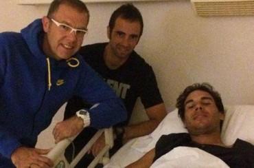 Rafa Nadal, operado satisfactoriamente de su apendicitis